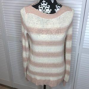 Loft Striped Boatneck Sweater Small